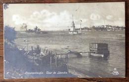 CONSTANTINOPLE - TOUR DE LEANDRE - CARTOLINA CON 4,5 PIASTRES PER ROMA - ITALY IN DATA 10/8/1922 - Mundo