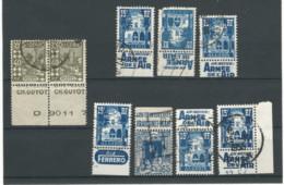 1954.-ENSEMBLE DE 9 TIMBRES DE CARNETS AVEC PUBLICITÉ - Nuevos
