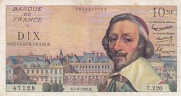10 N F  Francs  - Richelieu  B.7 - 6  -  1962   - T . 220.    Z 80628      TT B - 10 NF 1959-1963 ''Richelieu''