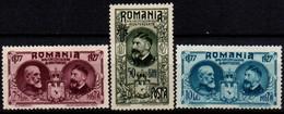 Romania 1927, Scott 308 310 319, MNH, Independence, King Charles / Carol - Nuevos