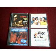 COLLECTION DE 4 CD ALBUM DE MUSIQUE DE FILM ° EVITA  DOUBLE CD + 4 MARIAGES + BODY OF EVIDENCE + WAITING TO  EXHALE - Musica Di Film