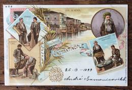 SOUVENIR DE CONSTANTINOPLE  26 IX 1899  - Annullo : CONSTANTINOPLE / OSTERREICH POST/27/9/99 Su AUASTRIA 10 Para 10 - Mundo