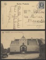 """Houyoux - N°193 Sur CP Vue (Longueville Maison De Campagne Notaire Goes) Obl Relais """"Longueville"""" / Pli ! - Sterstempels"""
