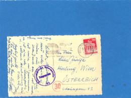 Allemagne Bizone 1951 Postkarte De Dusseldorf à L'Autriche, Avec Censure (G1849) - Zona Anglo-Americana