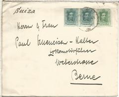 CC A SUIZA SELLOS ALFONSO XIII VAQUER - Cartas