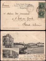 """España - Edi O TP 242 Par - Postal """"San Sebastián - Gran Casino Aficionados A La Pesca"""" + Mat """"Amb I 7/6/01 - 2 - Norte"""" - Cartas"""