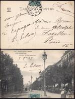 "España - Edi O TP 242 - Postal ""San Sebastián"" + Mat Ambulante ""Amb Desc I  - 5 - Norte"" A Paris - Cartas"