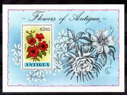 Antigua Hoja Bloque N ºYvert 38 ** FLORES (FLOWERS) - Antigua And Barbuda (1981-...)