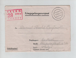REF4331/ Courrier PDG-POW Kriegsgefangenenpost Censure Stalag 228 XVII B Geprüft C.4/10/40 > Oostende België - Covers