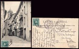 "España - Edi O TP 242 - Postal ""Cestona - Calle De La Iglesia"" + Mat Ambulante ""Amb Asc II - 2 - San Sebastián - Bilbao"" - Cartas"
