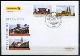 "Germany/Japan 2011 First Day Cover UNESCO Gemeinschaftsausgabe Mi.Nr2844/45""UNESCO-Welterbe,""Regensburg U.Nara Ya""1 FDC - UNESCO"