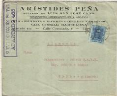 BARCELONA A  ALEMANIA ALFONSO XIII VAQUER - Cartas