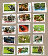 BRD - Privatpost - 15 W - Tiere Animals - Vögel, Katzen, Schmetterling, Bison, , Und Mehr - Sonstige