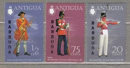 ANTIGUA BARBUDA 1973 Soldiers Uniforms MNH(**) Mi 112-114 #28391 - Antigua And Barbuda (1981-...)