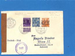 Allemagne Bizone 1948 Lettre De Michelbach à L'Autriche, Avec Censure (G1861) - Zona Anglo-Americana