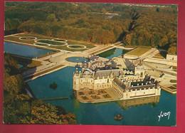 CP 60 Chantilly Le Château Et Le Parc - Photo Dutertre - Ed Yvon - Vue Aérienne - Chantilly