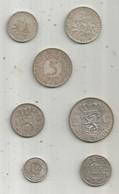 Monnaie ARGENT , France , Allemagne , Nederland , Suisse , 2 Scans , Voir Détail ,LOT DE 7 MONNAIES EN ARGENT - Alla Rinfusa - Monete
