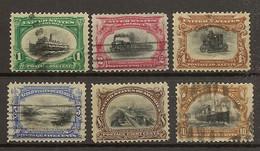 ESTADOS UNIDOS  YVERT 138/143 (*)/(º)  Serie Completa 6 Valores  1901  NL1303 - Unused Stamps