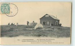 32645 - GERARDMER - AU SOMMET DU HONNECK. TABLE D ORIENTATION ET BORNE FRONTIERE - Gerardmer