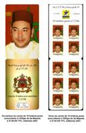 Carnet Autocollant Mohamed 6 Année 2021 - Marocco (1956-...)