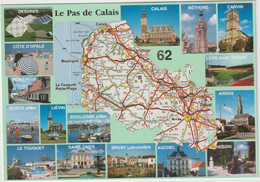 Pas De  Calais : Carte  Géographique : Desvres, Calais, Béthune, Carvin, Liévin,boulogne,le Touquet,auchel,hesdin... - Other Municipalities