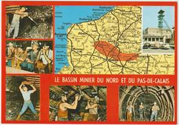 Pas De  Calais : Carte  Géographique : Bassin  Minier , Lille, Montreuil,st Omer,abbeville,cambrai,dunkerque,brugge.... - Other Municipalities