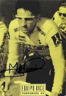 CARTE CYCLISME MELCHOR MAURI SIGNEE TEAM ONCE 1992 - Cycling