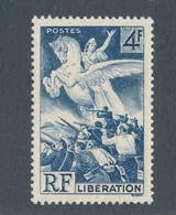 FRANCE - VARIETE RF+4F BLANCS N°669 NEUF** SANS CHARNIERE - 1945 - Kuriositäten: 1945-49 Ungebraucht