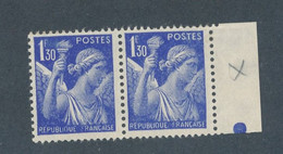 FRANCE - SIGNATURE GRAVEUR ABSENTE TENANT A NORMAL N°434h)+434 NEUFS* AVEC CHARNIERE - 1940 - Curiosities: 1931-40 Mint/hinged