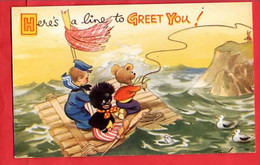 BAMFORTH HUMOUR COMIC   HERE'S TO GREET YOU  DOLL   TEDDY BEAR OURS EN PELUCHE - Humour