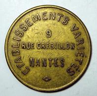 Nantes - Jeton D'audition - 9 Rue Crébillon - Monetari / Di Necessità
