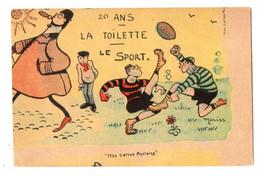 43517-ZE-SPORT-20 ANS-LA TOILETTE-LE SPORT----------------dessin De Moriss----------rugby - Rugby