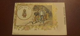 Ancienne Carte Postale - Chocolat Payraud - L'histoire De L'eclairage - Lampe Davy N°12 1er Serie - Advertising