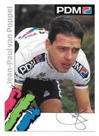 CARTE CYCLISME JEAN PAUL VAN POPPEL TEAM PDM 1992 - Cycling