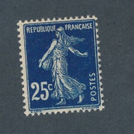 FRANCE - N° 140 IAg) BLEU NOIR SIGNE BLANC NEUF* AVEC CHARNIERE - 1907 - Curiosities: 1900-20 Mint/hinged