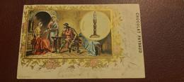 Ancienne Carte Postale - Chocolat Payraud - L'histoire De L'eclairage - Epoque Merovingienne N°2 1er Serie - Advertising