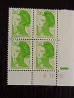 FRANCE - LIBERTE - COIN DATE - YT 2188 MNH ** - 08/10/86 - 1980-1989