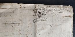 Quittance Des Tailles 1744 Cotte D'Office Saint Etienne - Manoscritti