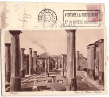 1927 POMPEI 2 CASA MARCO OLEONIO  ETICHETTE VISITARE TRIPOLITANIA   NAPOLI - Pompei