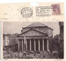 1928 ROMA 105 PANTHEON ETICHETTA DISPENSARIO - Pantheon