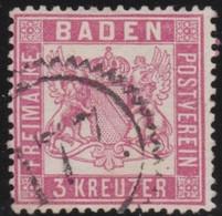 Baden    .    Michel   .   16  (2 Scans)        .     O   .        Gebraucht - Baden