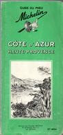 Guide Vert Du Pneu Michelin  De 1966 Côte D'Azur Haute Provence - Michelin (guide)