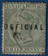 Jamaica 1890 Official Overprint On ½ D Victoria 1 Value Cancelled 2105.2579 - Jamaica (...-1961)