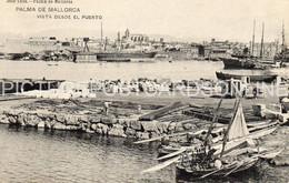 MALLORCA PALMA DE MALLORCA VISTA DESDE EL PUERTO OLD B/W POSTCARD MAJORCA VINTAGE MALLORCA - Mallorca