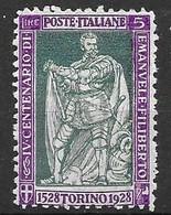 Italy 1928 Mint Very Low Hinge Trace * (quasi Mnh **) 20 Euros - Ongebruikt