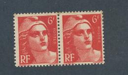 FRANCE - N° 721+721a) NEUFS** SANS CHARNIERE MECHES RELIEES - 1945/47 - Kuriositäten: 1945-49 Gebraucht