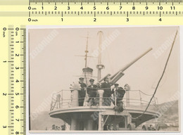 REAL PHOTO, ''KOBAC'' Brod Minolovac Navy Ship Mine Sweeper Kingdom Yugoslavia Royal Navy  Vintage Original Snapshot - War, Military