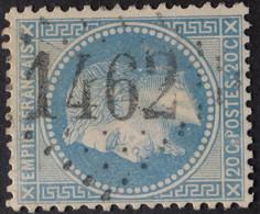 29B Variété Médaillon, Obl GC 1462 Eymoutiers (81 Haute Vienne ) Ind 5 ; Frappe Très Nette & TB Centrée - 1849-1876: Classic Period