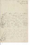 L'HOTEL DIEU DE CAEN  Lettre De 1889 - Non Classés