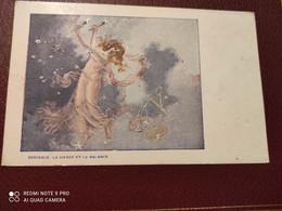 Ancienne Carte Postale  - Gaufrettes & Biscuits Vignals Fils & Cie - Zodiaque La Vierge Et La Balance - Other Illustrators